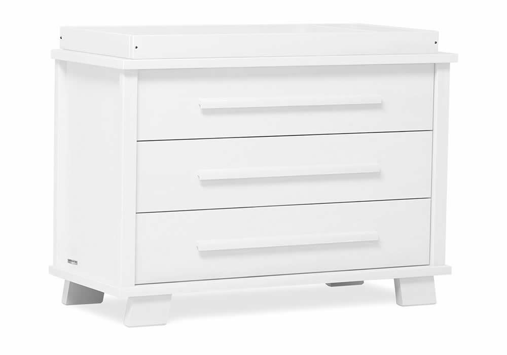 Lucia 3 Drawer chest - White