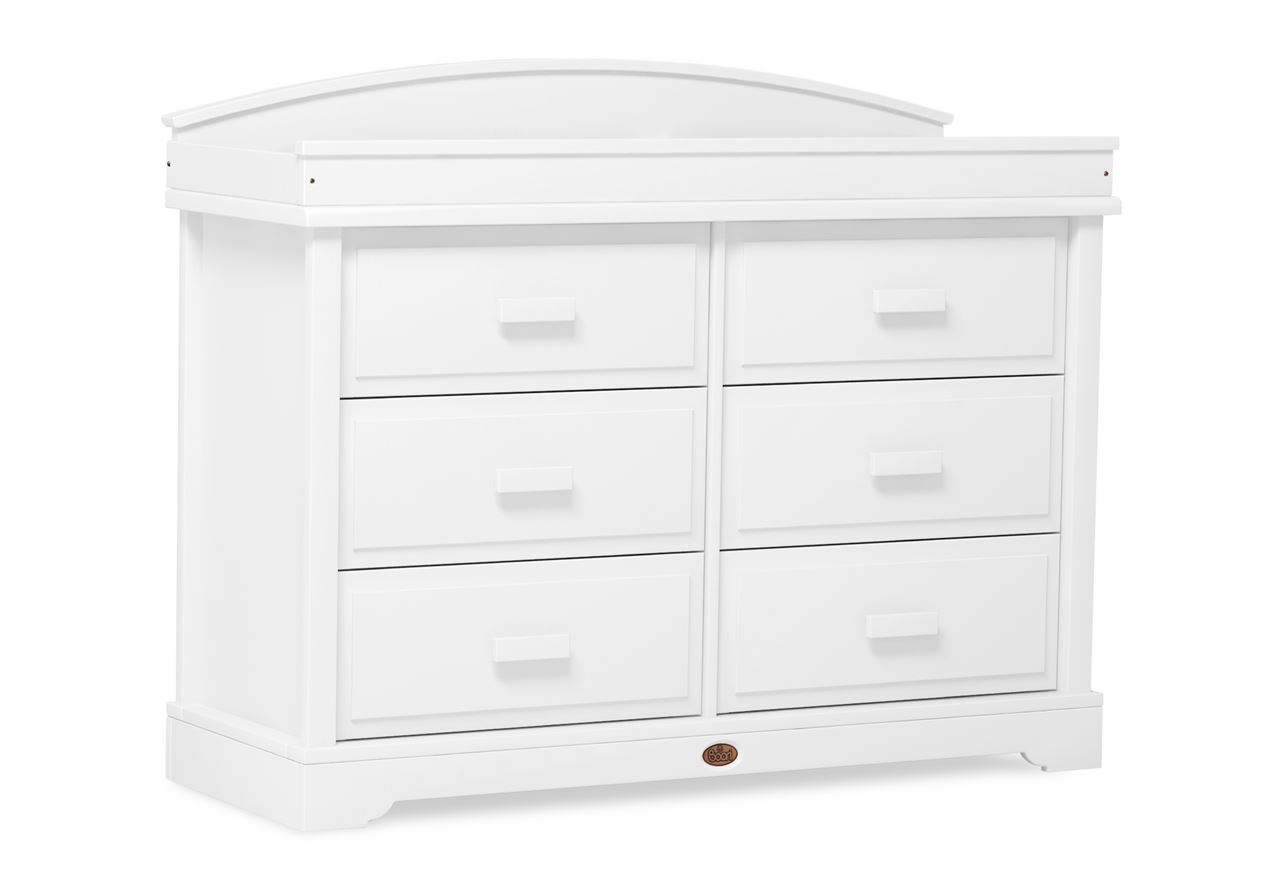 6 Drawer dresser (shown with Arched Changing station) - White