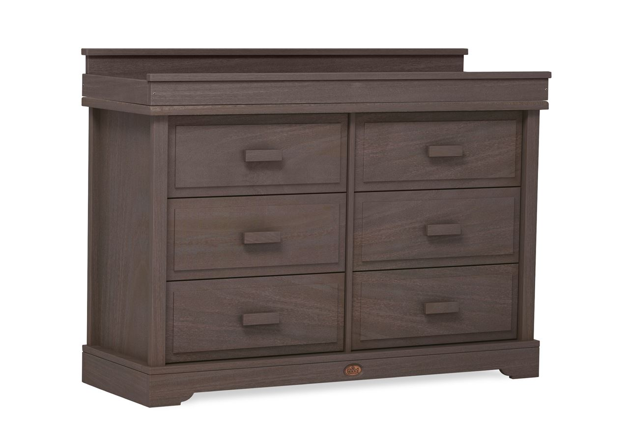 6 Drawer dresser (shown with Squared Changing station) – Mocha