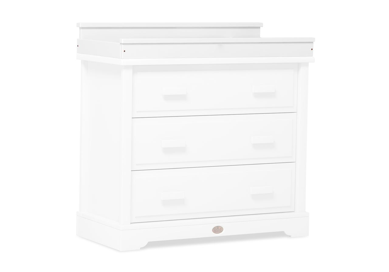 Squared Changing station (for 3 Drawer dresser) - White