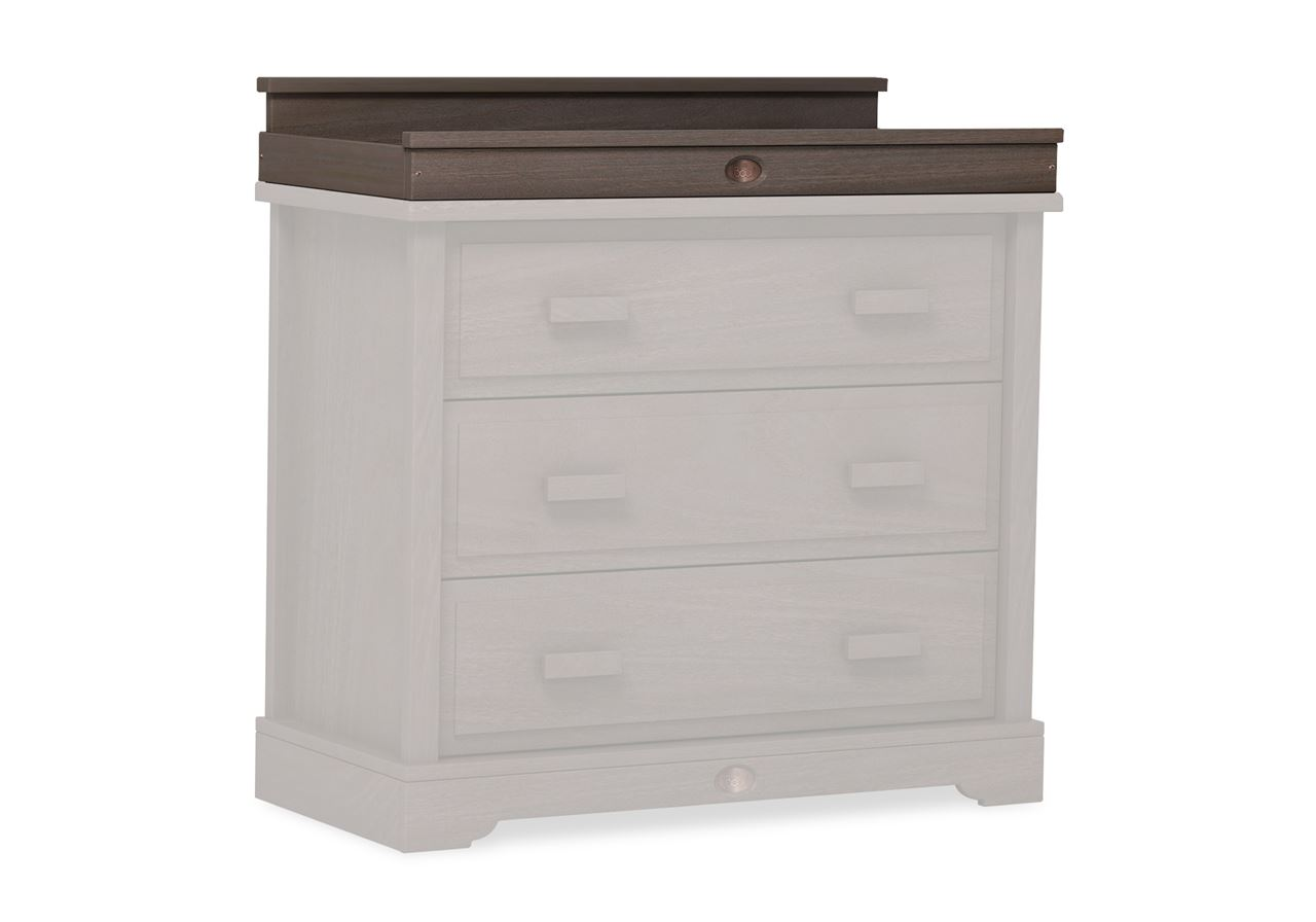 Squared Changing station (for 3 Drawer dresser) - Mocha