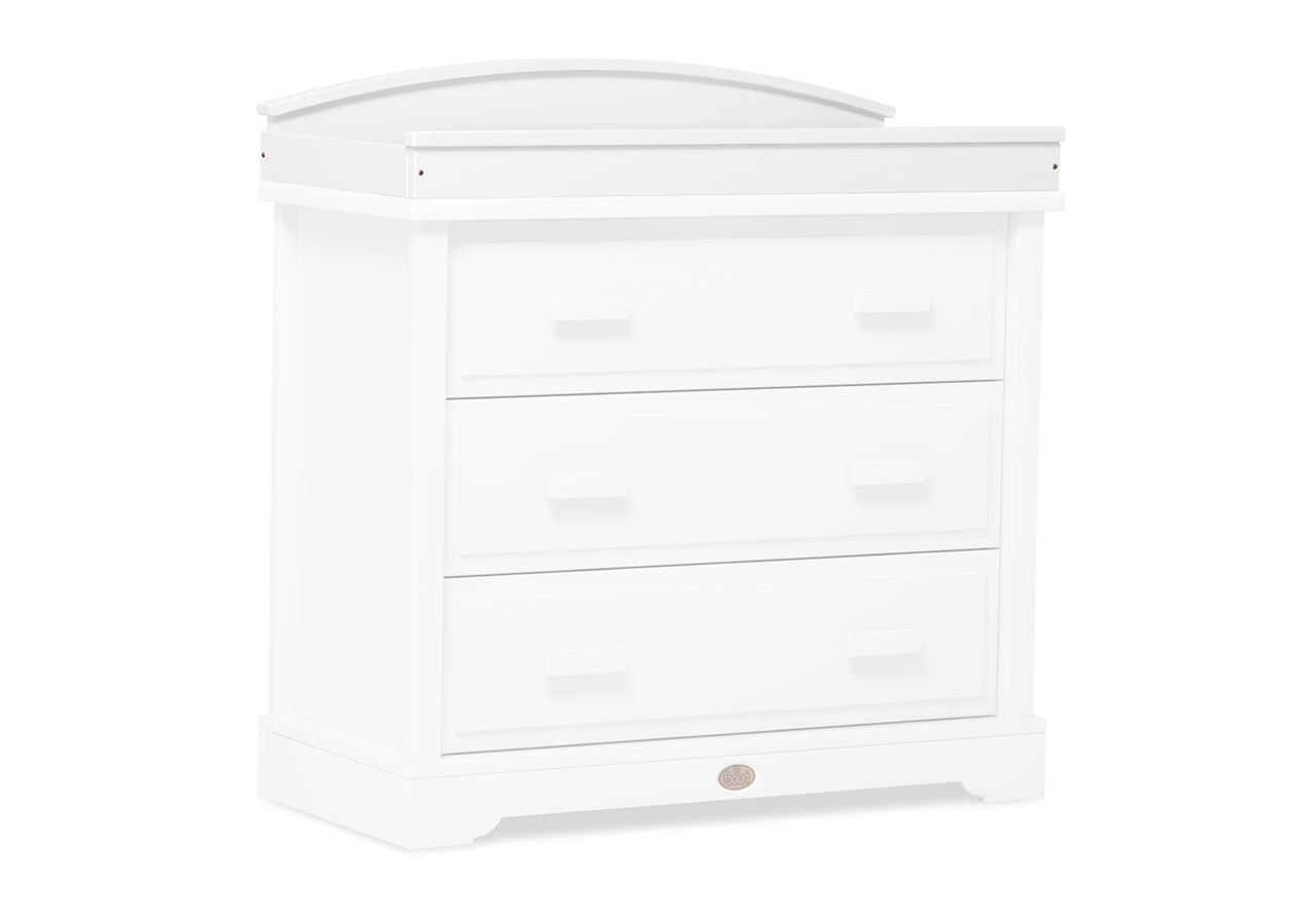 Arched Changing station (for 3 Drawer dressers) - White