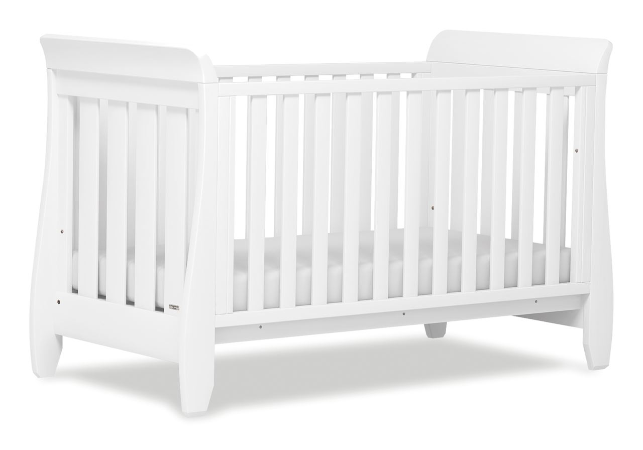 Urbane Sleigh Cot bed - White