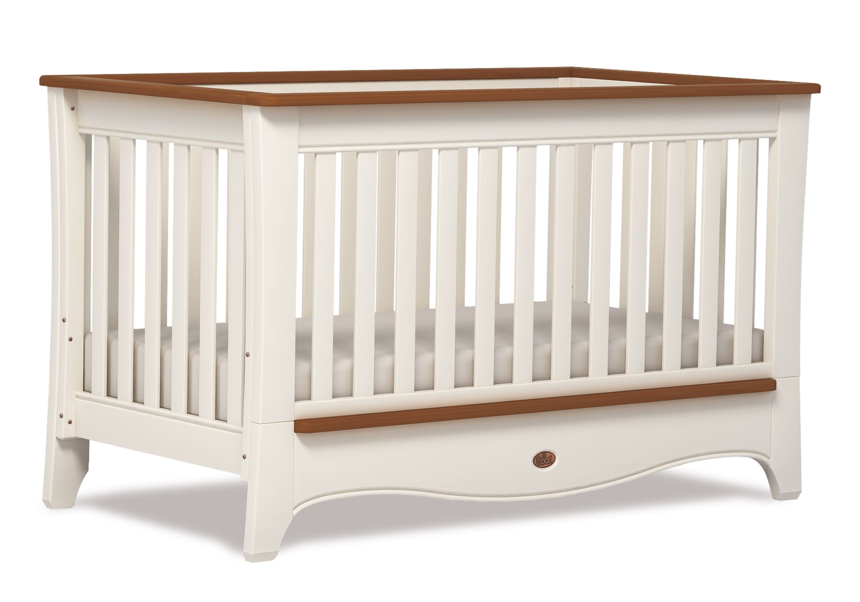 Provence Convertible Plus Cot bed - Ivory and Honey