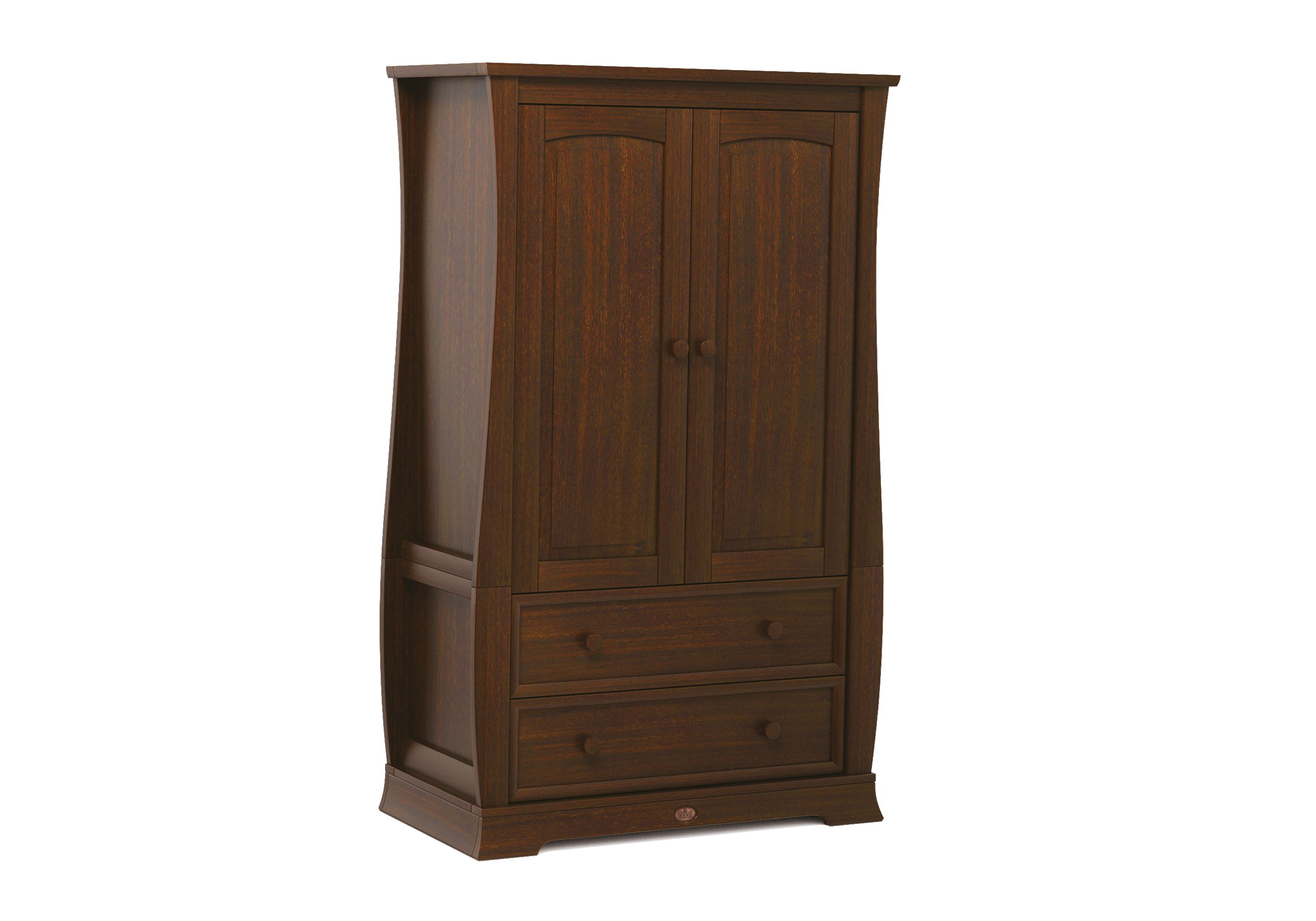 Sleigh Wardrobe - English Oak