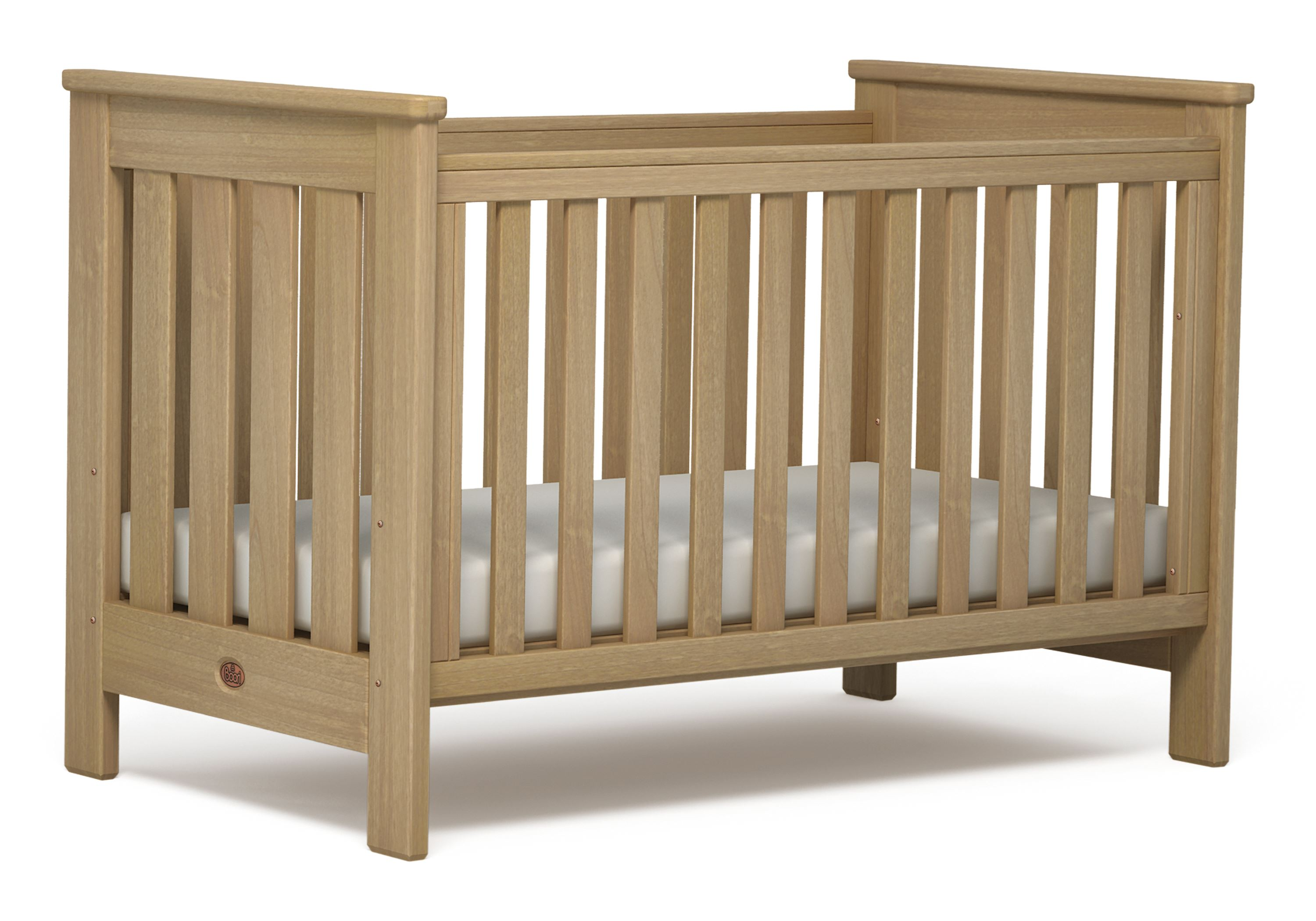 Pioneer Cot bed (Dropside) - Almond