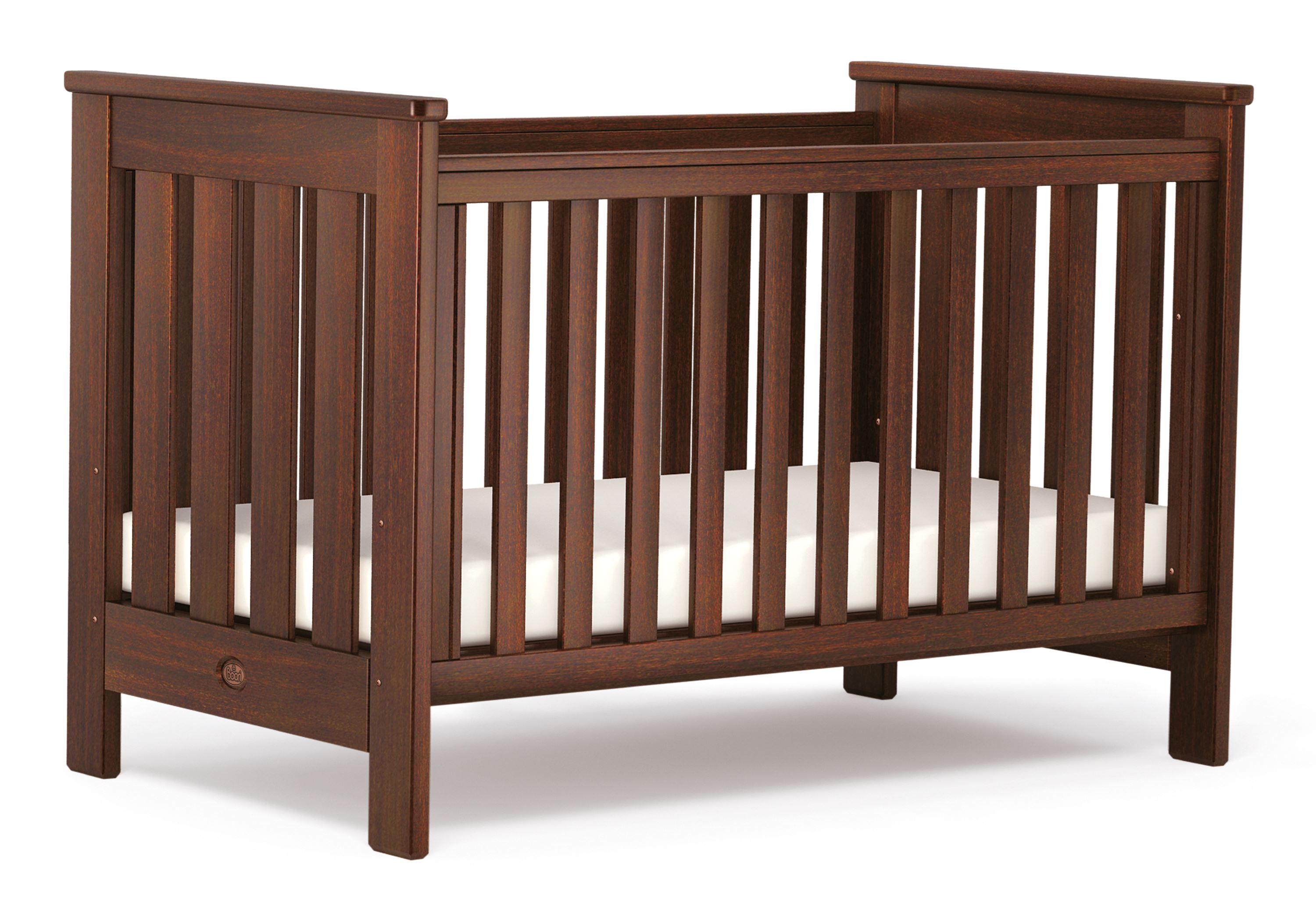 Pioneer Cot bed (Dropside) - English Oak