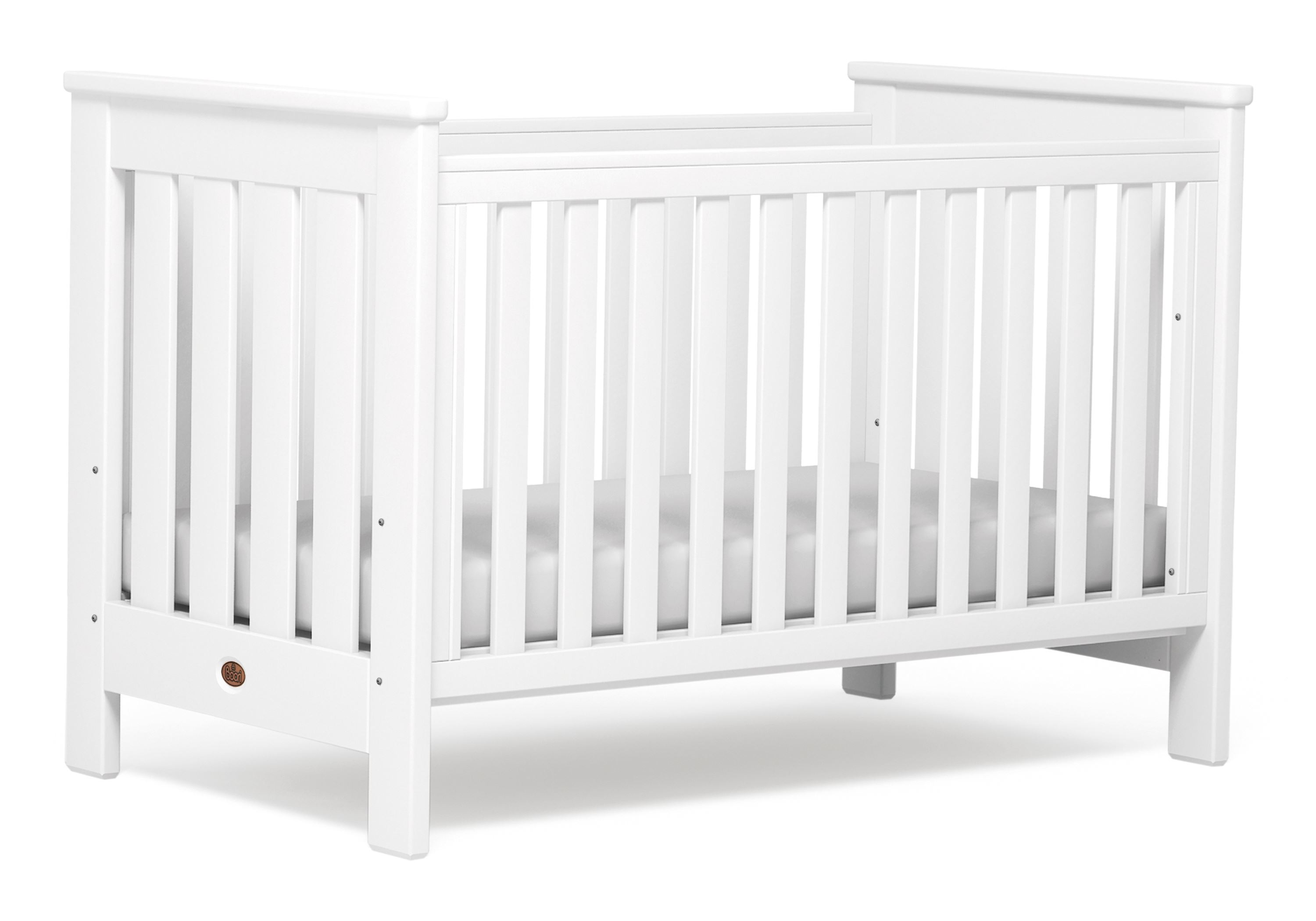 Pioneer Cot bed (Dropside) - White