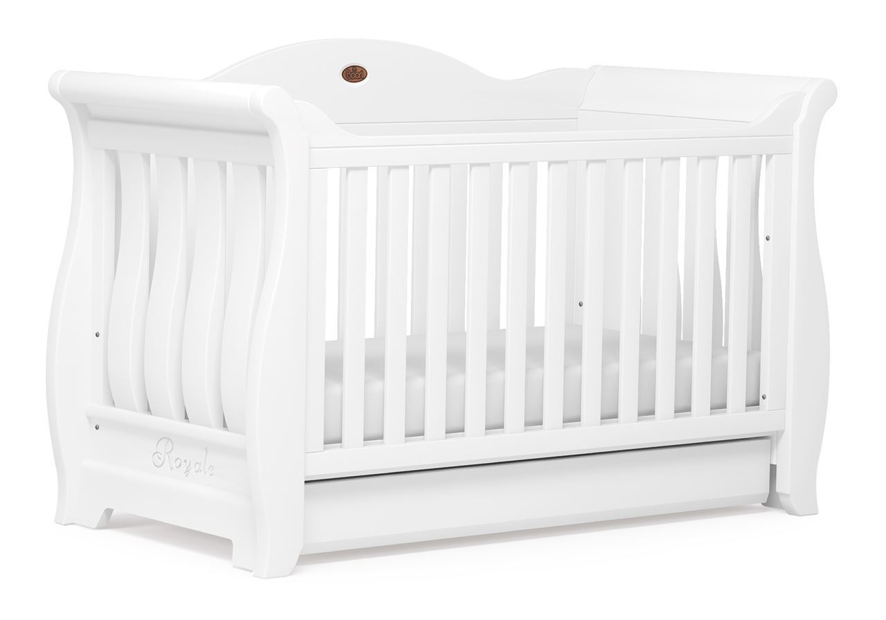 Sleigh Royale Cot bed - White