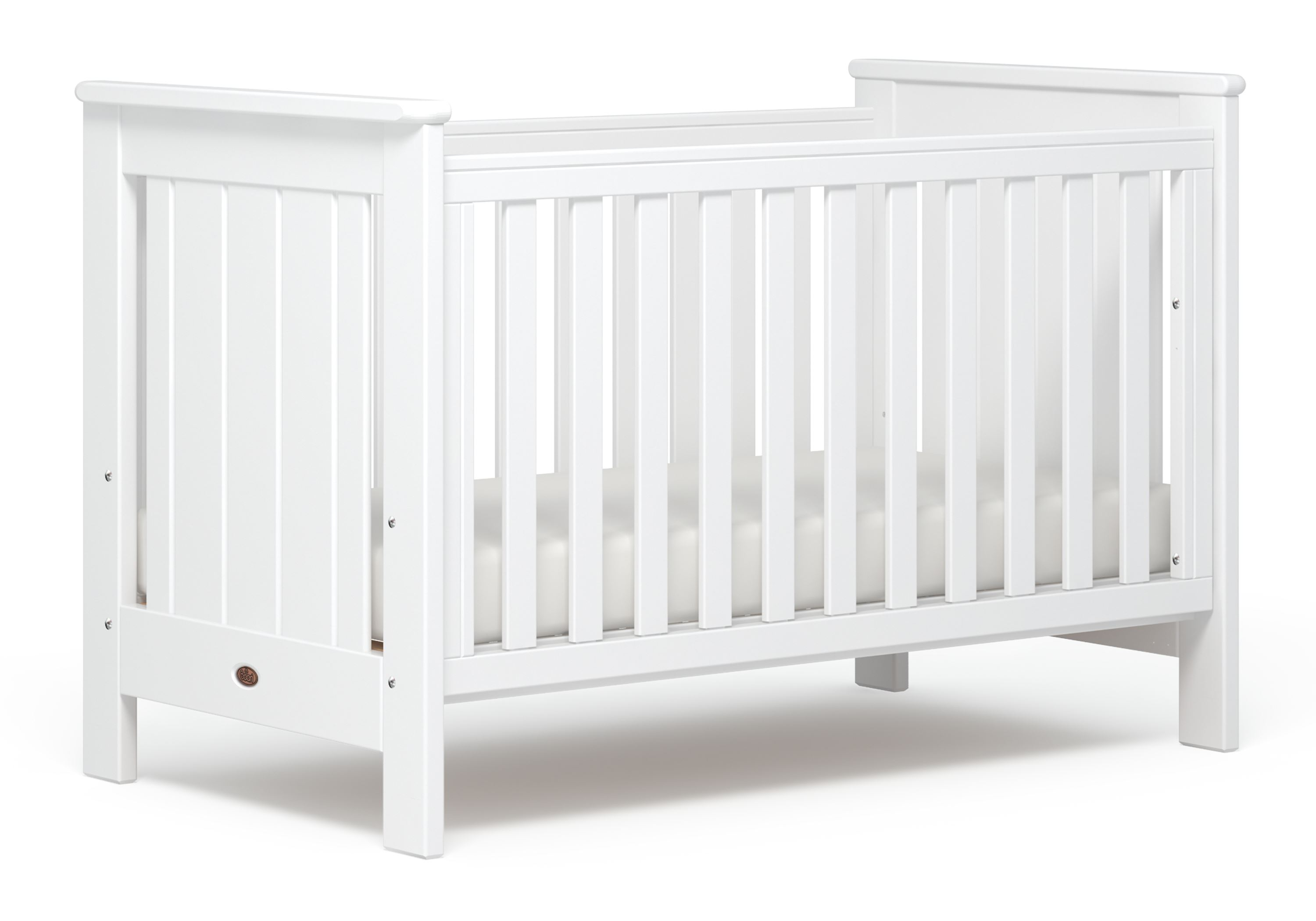 Plaza Cot bed (Dropside) - White