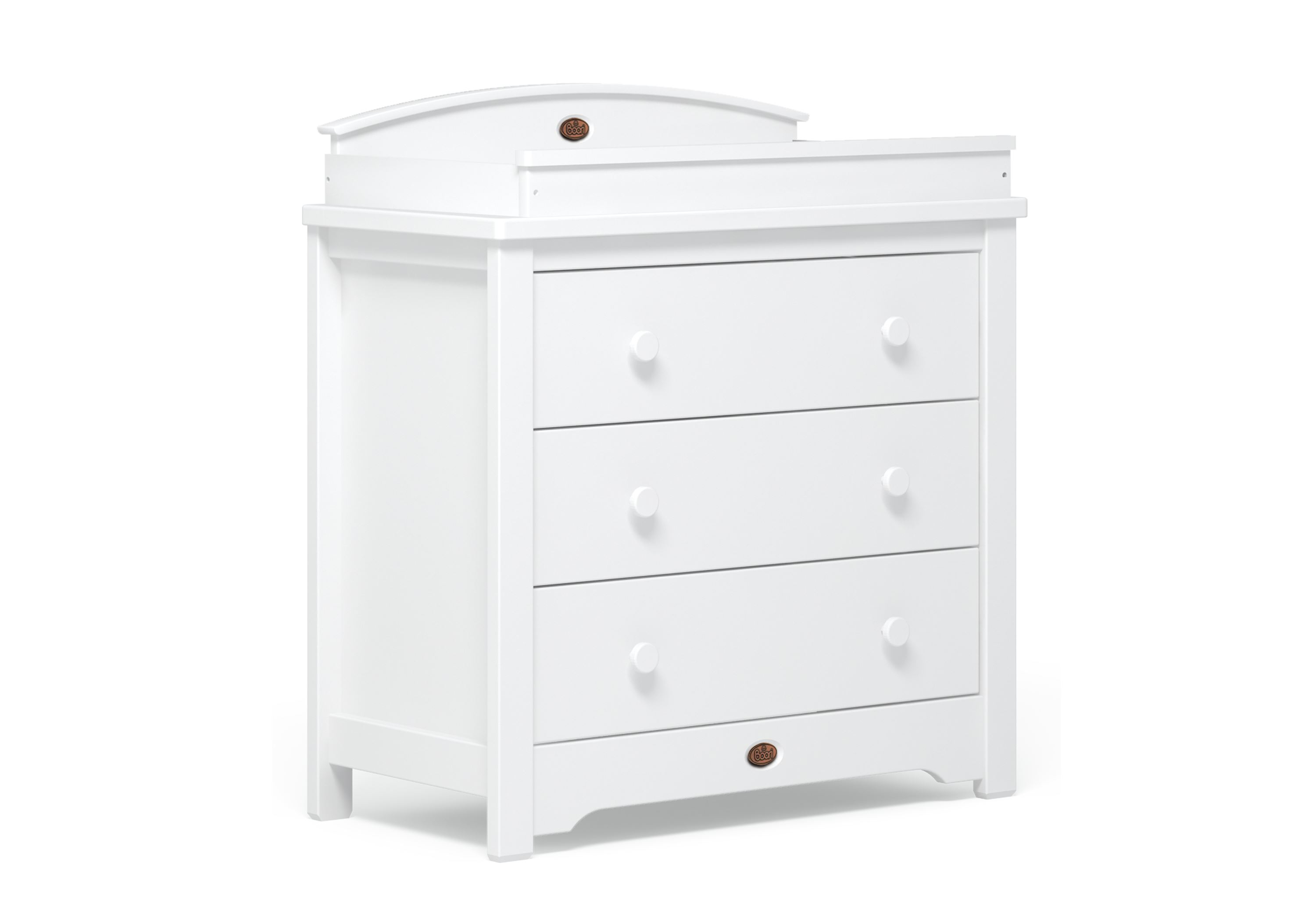 3 Drawer chest (with Arched Change tray) - White