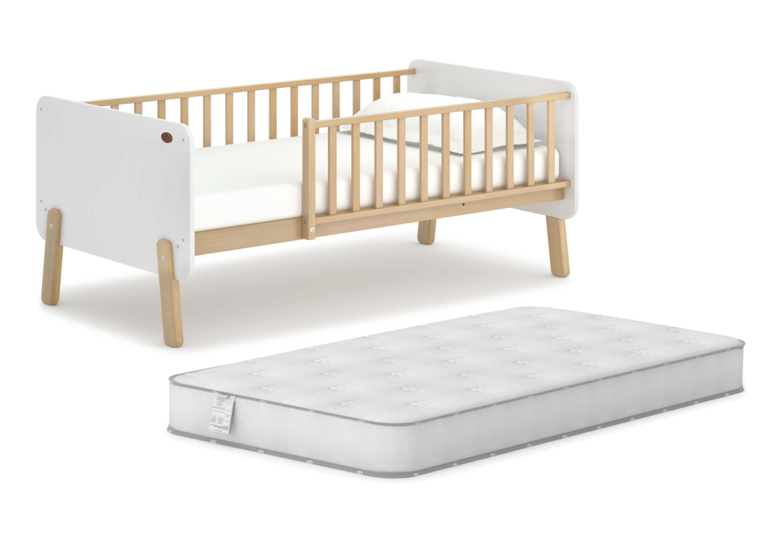 Natty Bedside Bed & Mattress Bundle