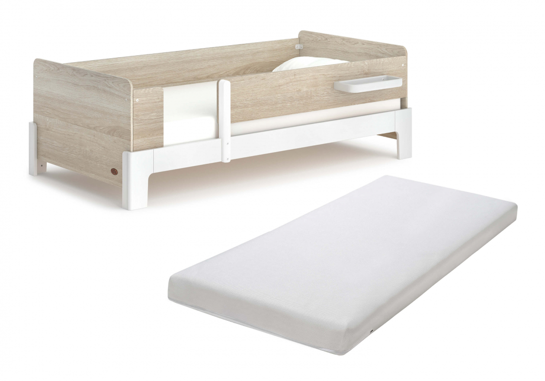Natty Guarded Single Bed with Pocket Spring Mattress
