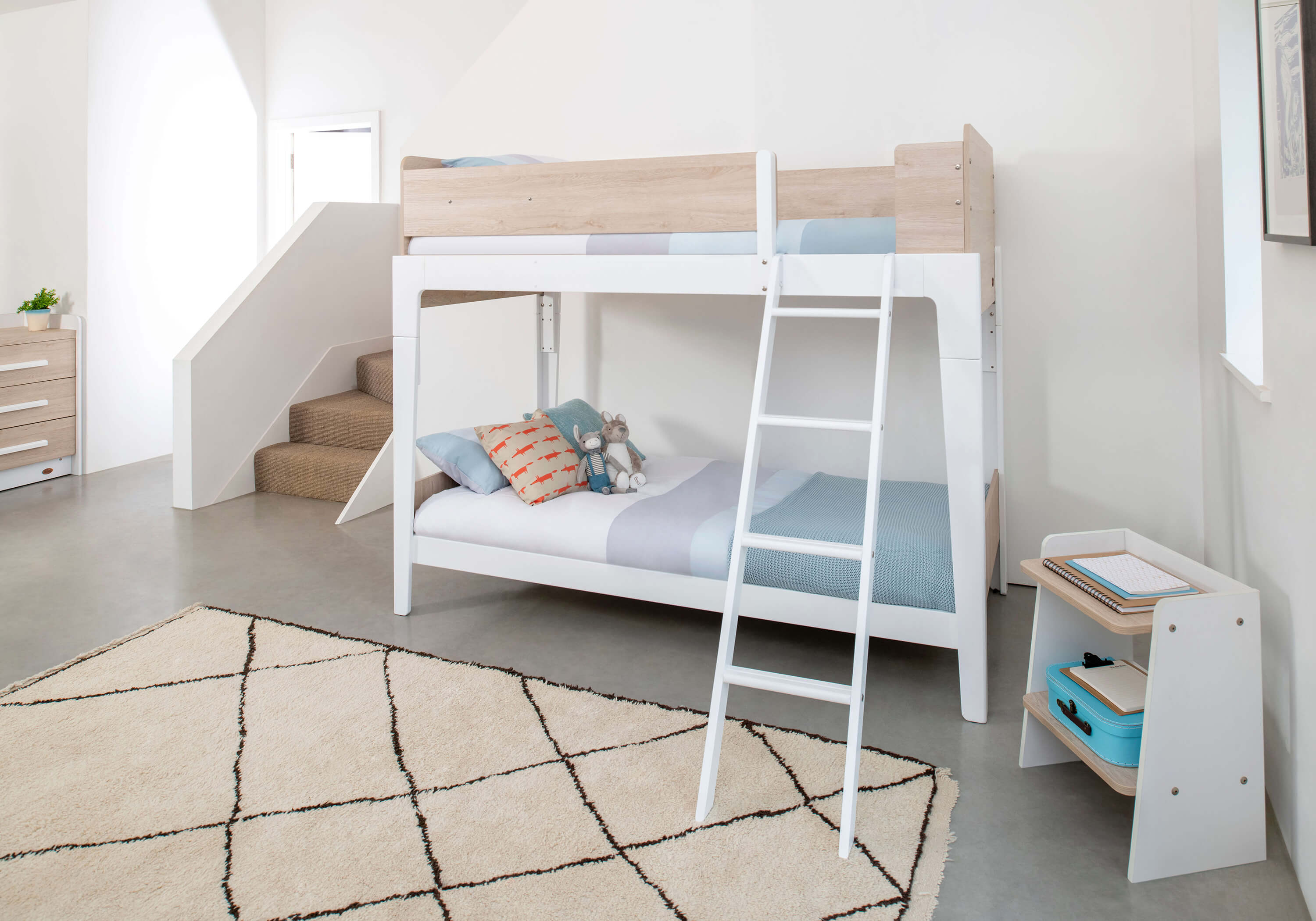 Natty Single Bunk Bed White Oak Boori