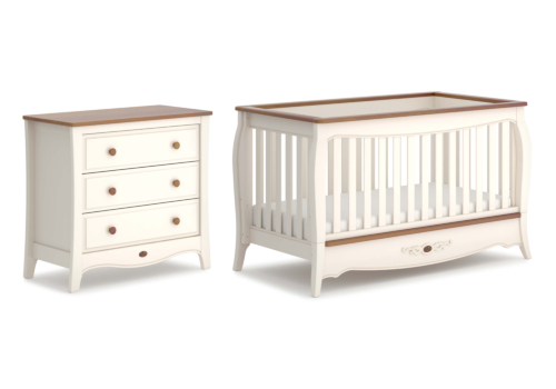 Loire Convertible Plus 2 Piece Nursery Furniture Set (with Chest)