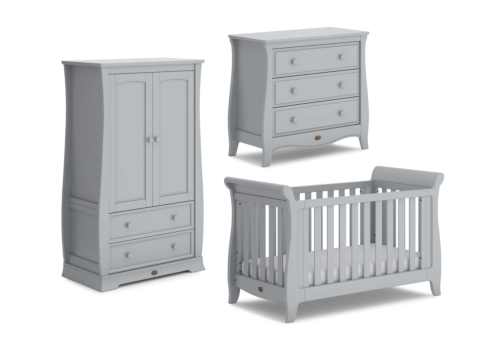 Sleigh Expandable 3 Piece Nursery Furniture Set (with Chest)