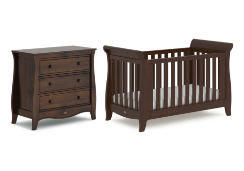 Sleigh Expandable Cot Bed 2 Piece Nursery Room Set
