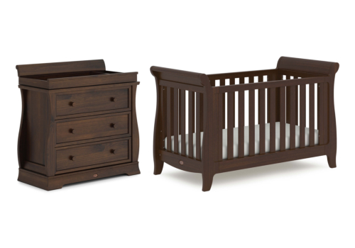 Sleigh Expandable 2 Piece Nursery Furniture Set (with Dresser)