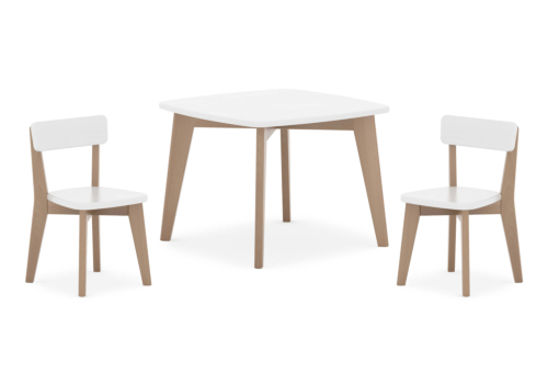 Thetis Squared Table & Two Thetis Chairs