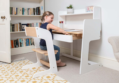 Neat Study Desk with Hutch & Chair