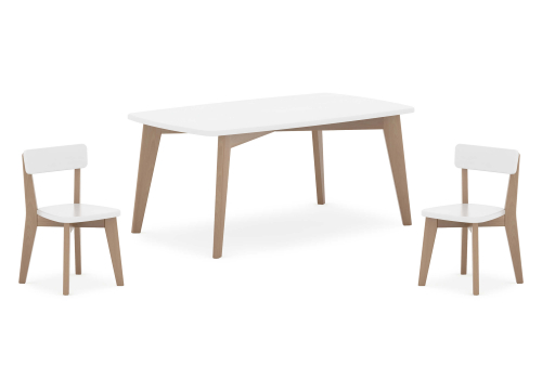 Thetis Rectangular Table & Two Thetis Chairs