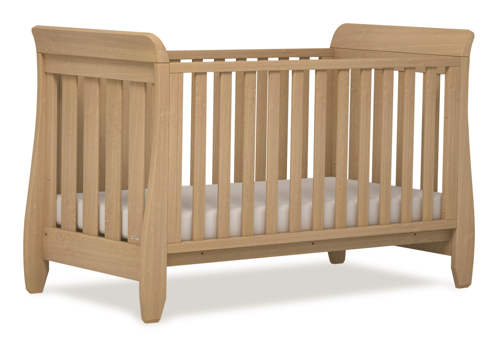 Urbane Sleigh Cot bed - Almond