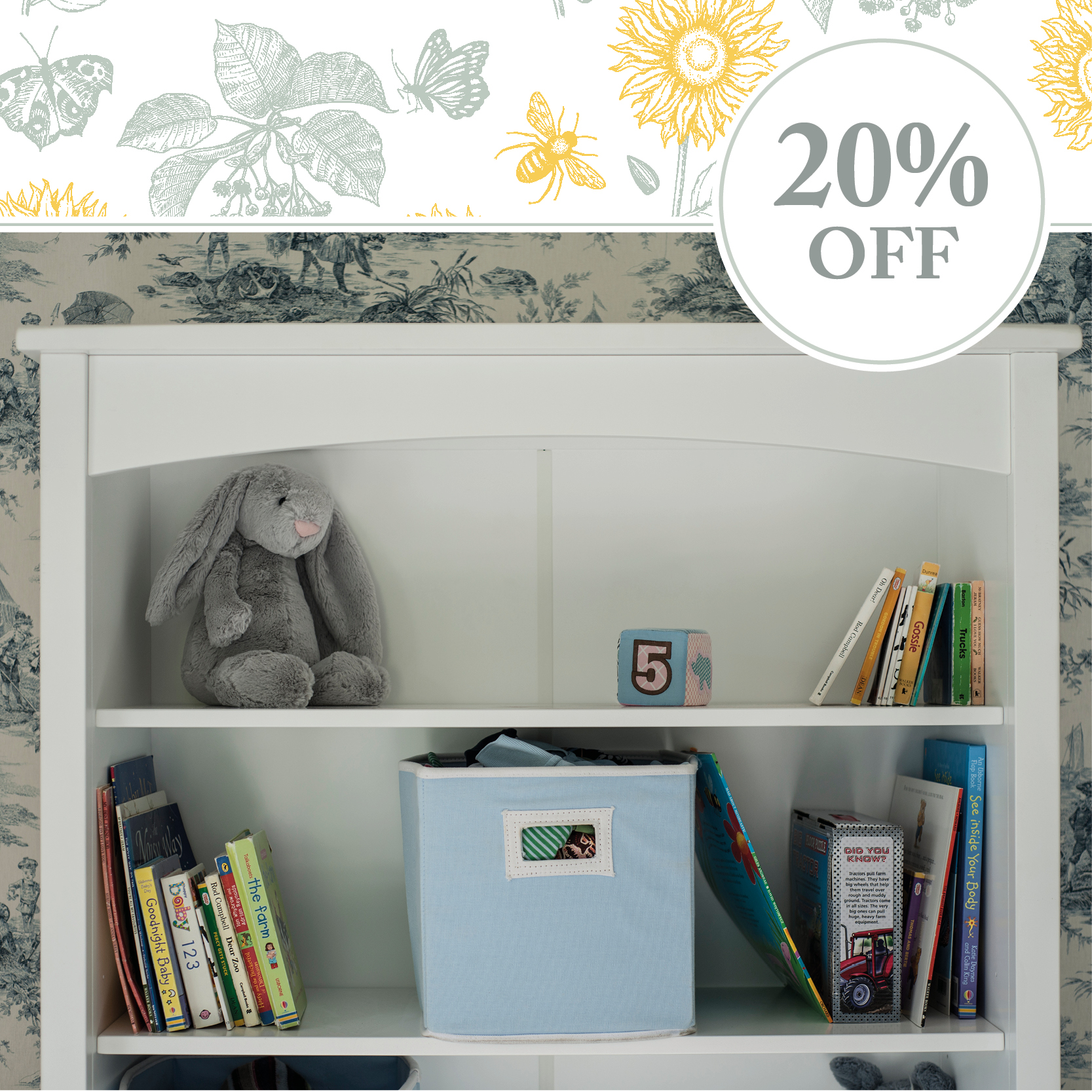 20% off Bookcase Hutches