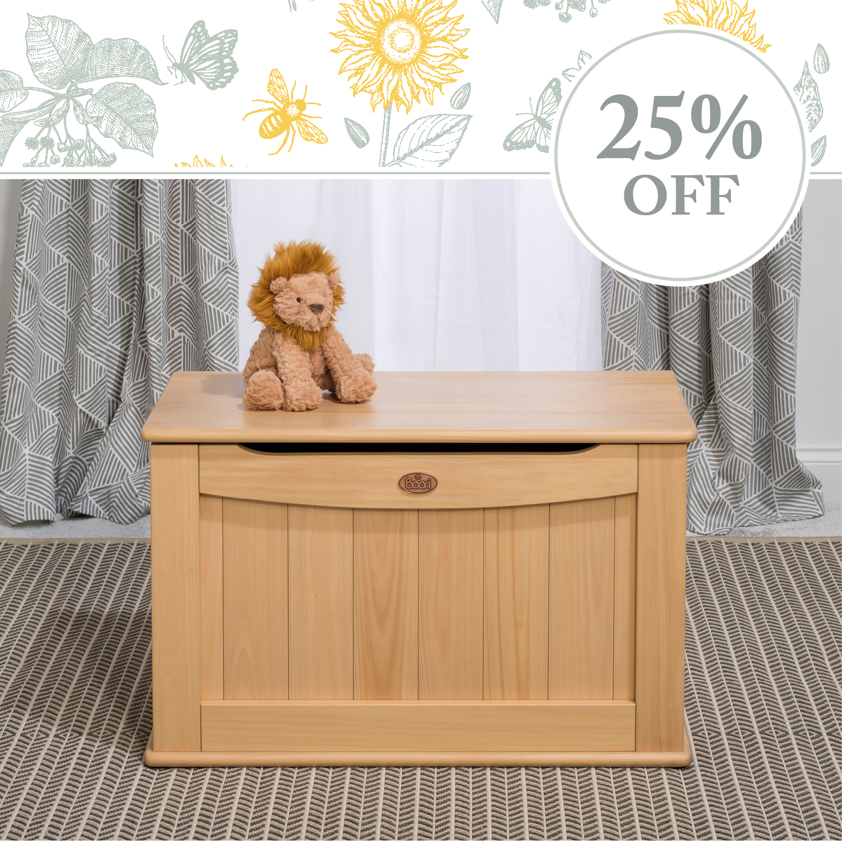 25% off Toy Boxes