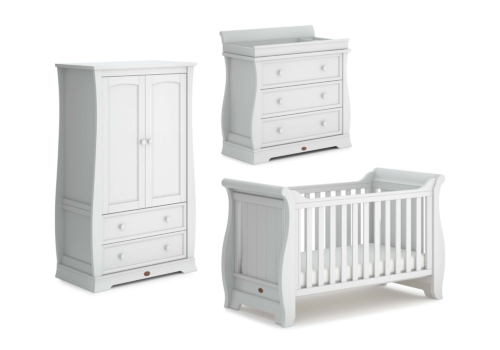 Sleigh 3 Piece Nursery Furniture Set (with Dresser)