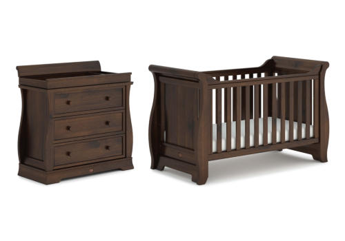 Sleigh 2 Piece Nursery Furniture Set (with Dresser)
