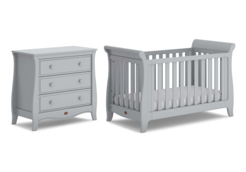 Sleigh Expandable 2 Piece Nursery Furniture Set (with Chest)
