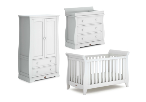 Sleigh Expandable 3 Piece Nursery Furniture Set (with Dresser)