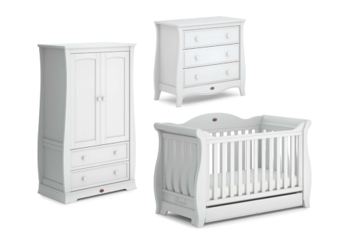 Sleigh Royale 3 Piece Nursery Furniture Set (with Chest)