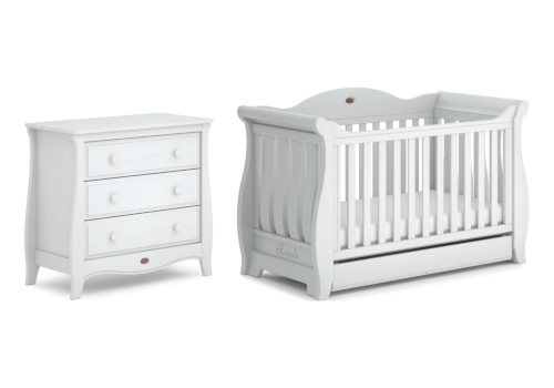 Sleigh Royale 2 Piece Nursery Furniture Set (with Chest)