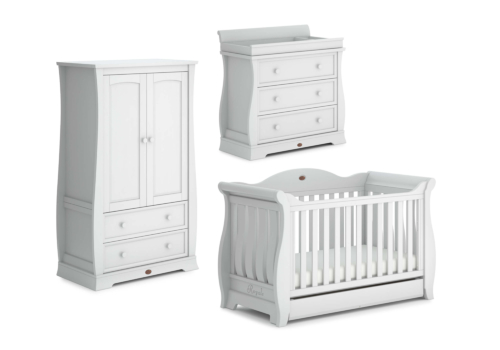 Sleigh Royale 3 Piece Nursery Furniture Set (with Dresser)