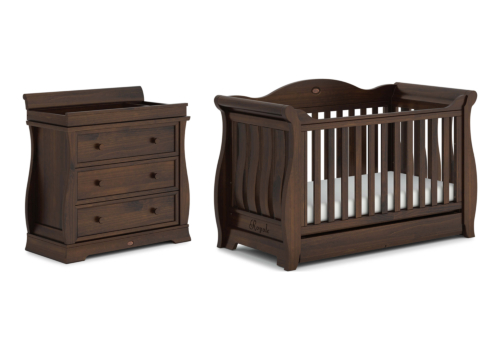 Sleigh Royale 2 Piece Nursery Furniture Set (with Dresser)