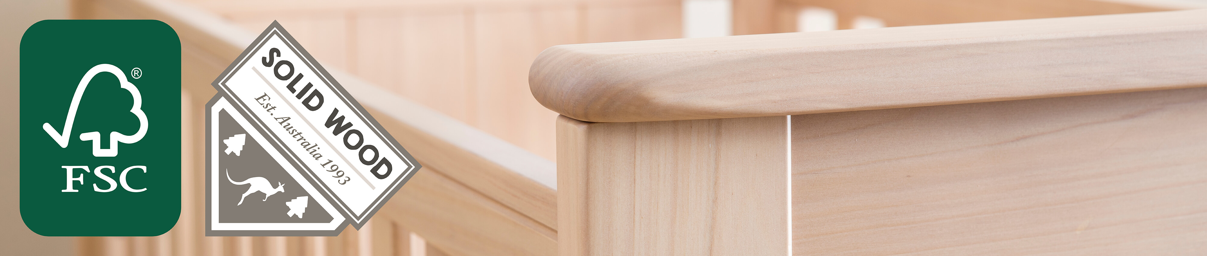 We use sustainable solid wood