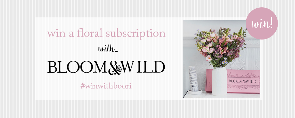 Win 3 Months of Flowers with Bloom & Wild